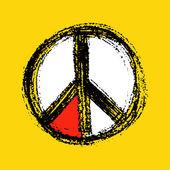 Peace symbol drawing. — Stock Vector