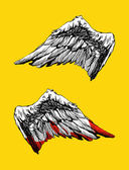 Hand drawn angel wings vector — Stock Vector