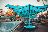 Water park with swimming pool in Bangkok — Stock Photo