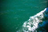 Sea and the waves from  ship sailing — Stock Photo