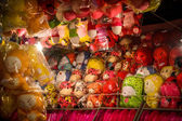 Soft toys in Thailand market — Stock Photo