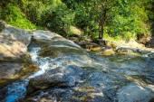 Waterfall with pool in tropical jungle, Na Muang, Koh Samui — Stock Photo