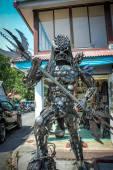 Extraordinary souvenirs from Koh Samui. Metal man — Stock Photo