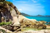 Idyllic Scene Beach at Samui Island — Stock Photo