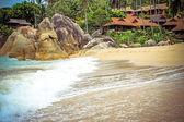 Lamai beach on Koh Samui — Stock Photo