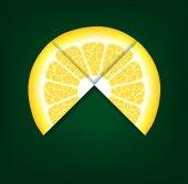 Lemons segments. Vector background — Stock Vector