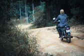 KO SAMUI, THAILAND 28 january 2014 view of unidentified rider in jungle — 图库照片