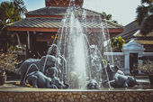 Sloní fontána na Koh Samui v retro barvách — Stock fotografie