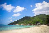 Tropical beach in Thailand on Koh Samui — Stock Photo