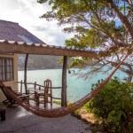 Romantic hammock in private house near the tropical beach — Stock Photo #57096305