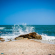 Big waves breaking on the shore with sea foam — Stock Photo #60748171
