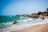 Tropical beach - vacation nature background on Koh Samui, Thailand — Stock Photo