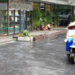 Thailand, Bangkok, 1 August 2014. Road in the city centre during torrential rain. Blurred background. HD. 1920x1080 — Stock Video #63218433