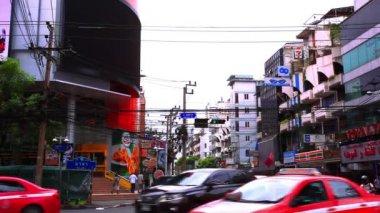 BANGKOK 2014 August 2. Traffic on the road of Bangkok. Thailand — Stock Video