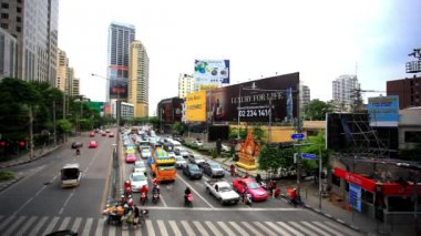 BANGKOK 3 august 2014, Traffic on road  in Bangkok, Thailand. HD. 1920x1080. Time lapse speed up — Stock Video