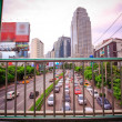 BANGKOK, THAILAND, 4 AUGUST 2014, Traffic on a busy road in the city centre — Stock Photo #64007113
