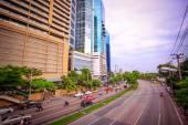 бангкок, таиланд, 4 августа 2014, движение на дороге в центре города — Стоковое фото