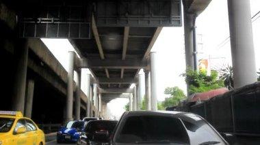 BANGKOK 4 august 2014. Traffic jam on the road in Bangkok, Thailand. HD. 1920x1080 — Stok video