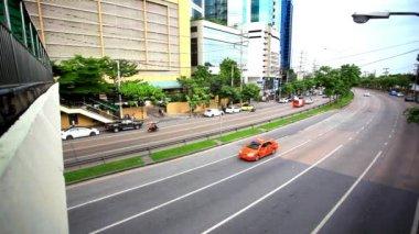 Traffic on road in Bangkok, Thailand. HD. 1920x1080 — Stock video