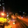 BANGKOK, THAILAND, 4 AUGUST 2014, Traffic on a road in the city centre. Night time — Stock Video #64131667