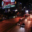 BANGKOK, THAILAND, 4 AUGUST 2014, Traffic on a road in the city centre. Night time. Timelapse speed up. HD. 1920x1080 — Stock Video #64143139