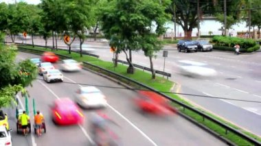 Traffic on road in Bangkok, Thailand. HD. Timelapse speed up. 1920x1080 — Stock Video