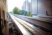 Moscow cityscape with monorail, Russia, East Europe — Stock Photo