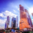 Beautiful evening view of famous skyscrapers in Moscow City international business center, Russia — Stock Photo #65130451