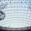 Transparent roof of shopping center AfiMall City and Mercury city Tower — Stock Photo #65225781
