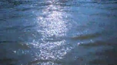 Abstract view of changing color Of the water with reflections and ripples. HD. 1920x1080 — Stock Video