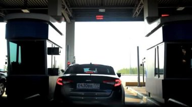 Russia, Moscow, 14 august 2014, Driving through tunnel to the toll road. HD. 1920x1080 — Stock Video