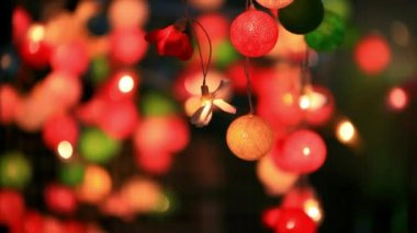 Christmas garland blurred lights background with different colors. HD. 1920x1080 — Stock Video