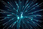 Outbreaks of fireworks in the night sky — Stock Photo