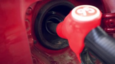 Car refueling on a petrol station. — Stock Video