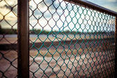 Airport wire fence on Koh Samui — Stock Photo