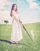 Jong meisje schot — Stockfoto