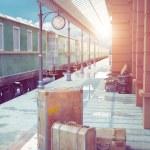 Retro railway station — Stock Photo #60300767
