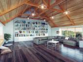 Modern attic  — Stock Photo