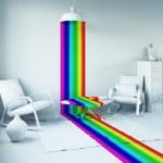 Rainbow in the interior — Stock Photo #63901649
