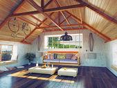 Attic interior — Stock Photo
