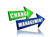 Change management in arrows — Stock Photo