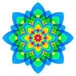 flor mandala, arco-íris de cores em círculos — Fotografia Stock  #53900937