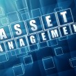 Asset management in blue glass blocks — Stock Photo #65314107