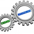 Change management in silver grey gears — Stock Photo #71118491
