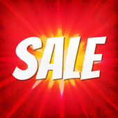 Sale Red Poster — Stock Vector