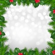 Christmas Border From Holly Berry — Stock Vector #60190257