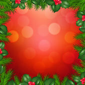 Abete di Natale confine — Vettoriale Stock