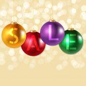圣诞销售海报 — 图库矢量图片