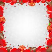 Happy Valentines Day Border — Vettoriale Stock