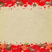 Šťastný Valentines den hranice se srdcem — Stock vektor